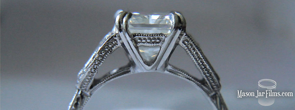 country outdoor wedding pic 16 vintage style engagement ring