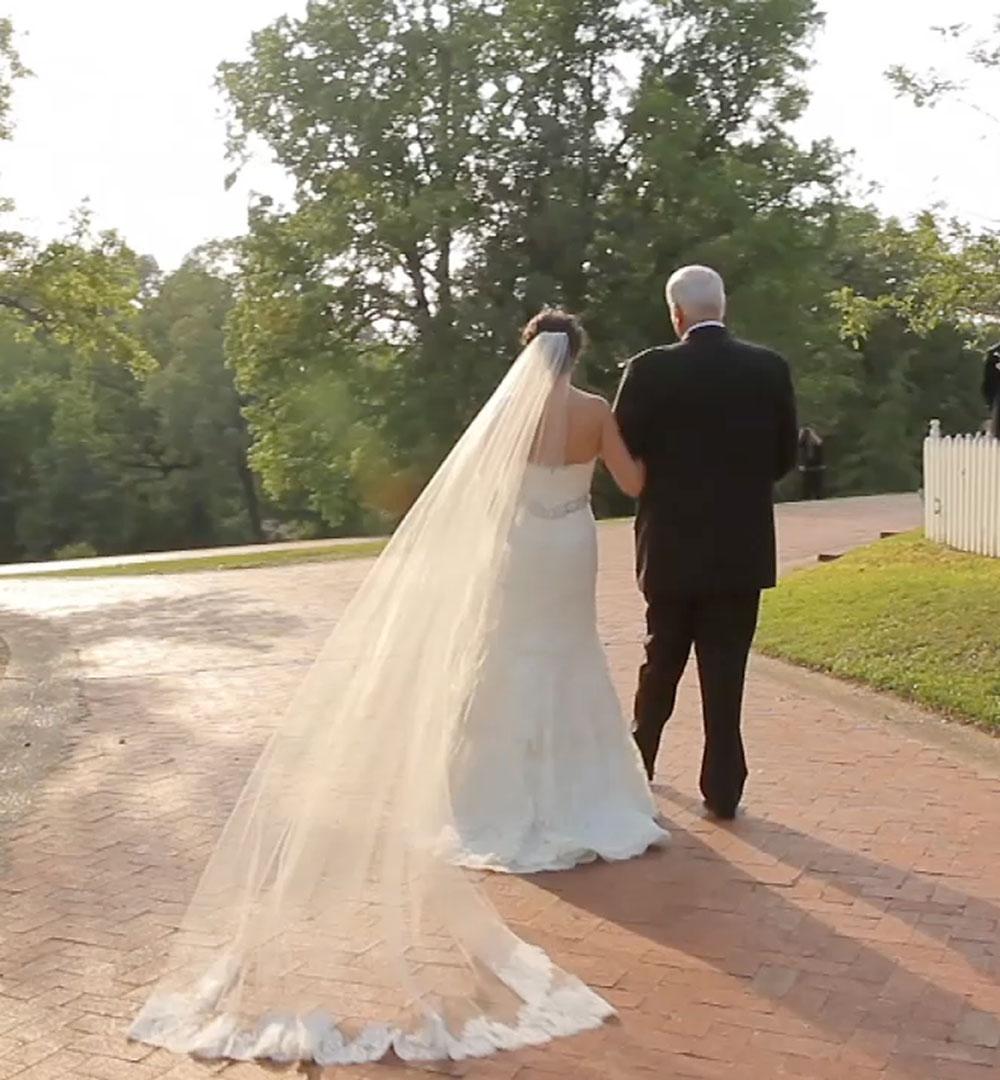 victorian backyard wedding 28 bride entrance