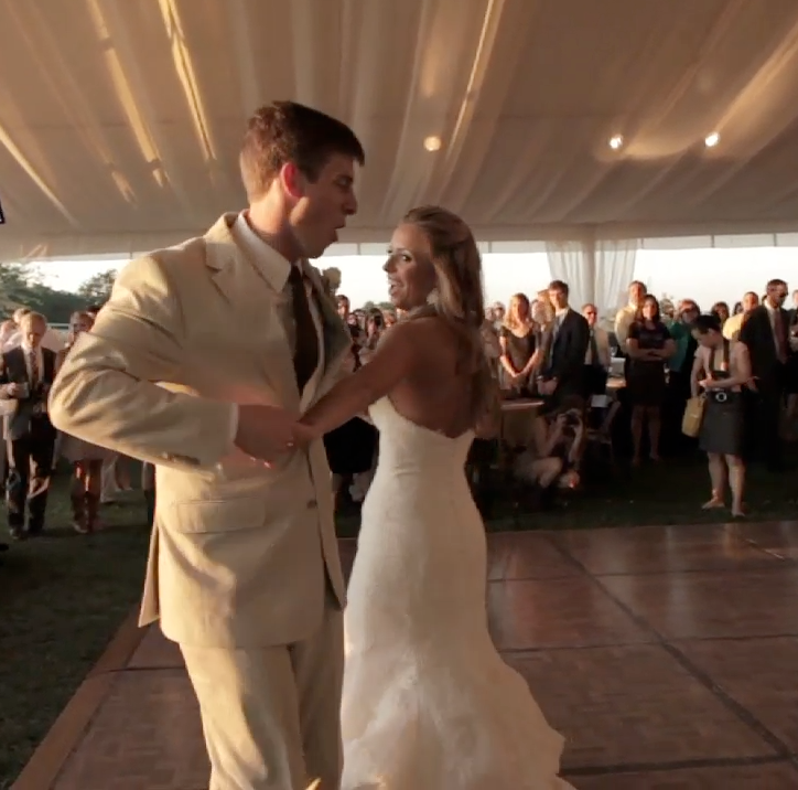 Houston rustic outdoor wedding pic 03 first dance