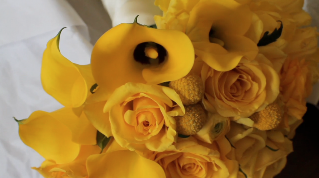Clink Events Austin Bastrop Hyatt Regency Lost Pines Resort Wedding Pic 03 yellow flower bouquet