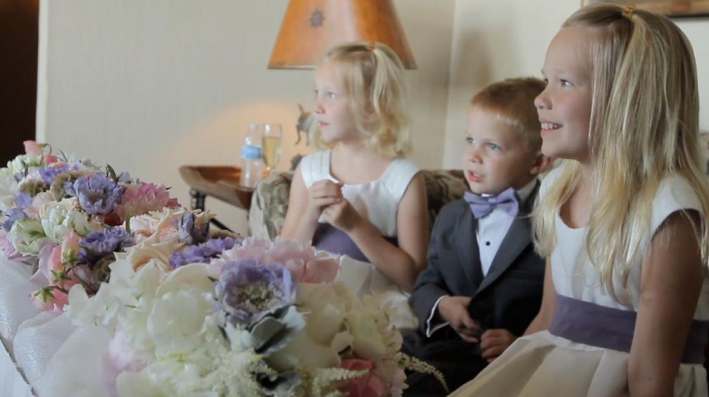 rough creek lodge jewish wedding video pic 14 flower girl dress