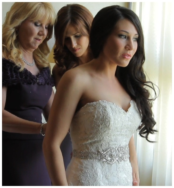 bride lace gown wedding video pic