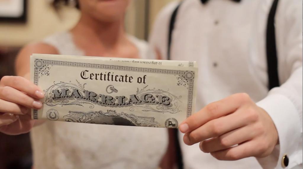 Escondido Horseshoe Bay Wedding Pic 04 marriage certificate