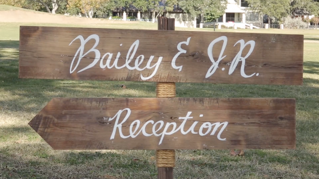 Riverhill Country Club Viridian Wedding Pic 24 DIY wood sign