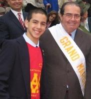 Alessandro Marchetti '10 with Supreme Court Justice Antonin Scalia