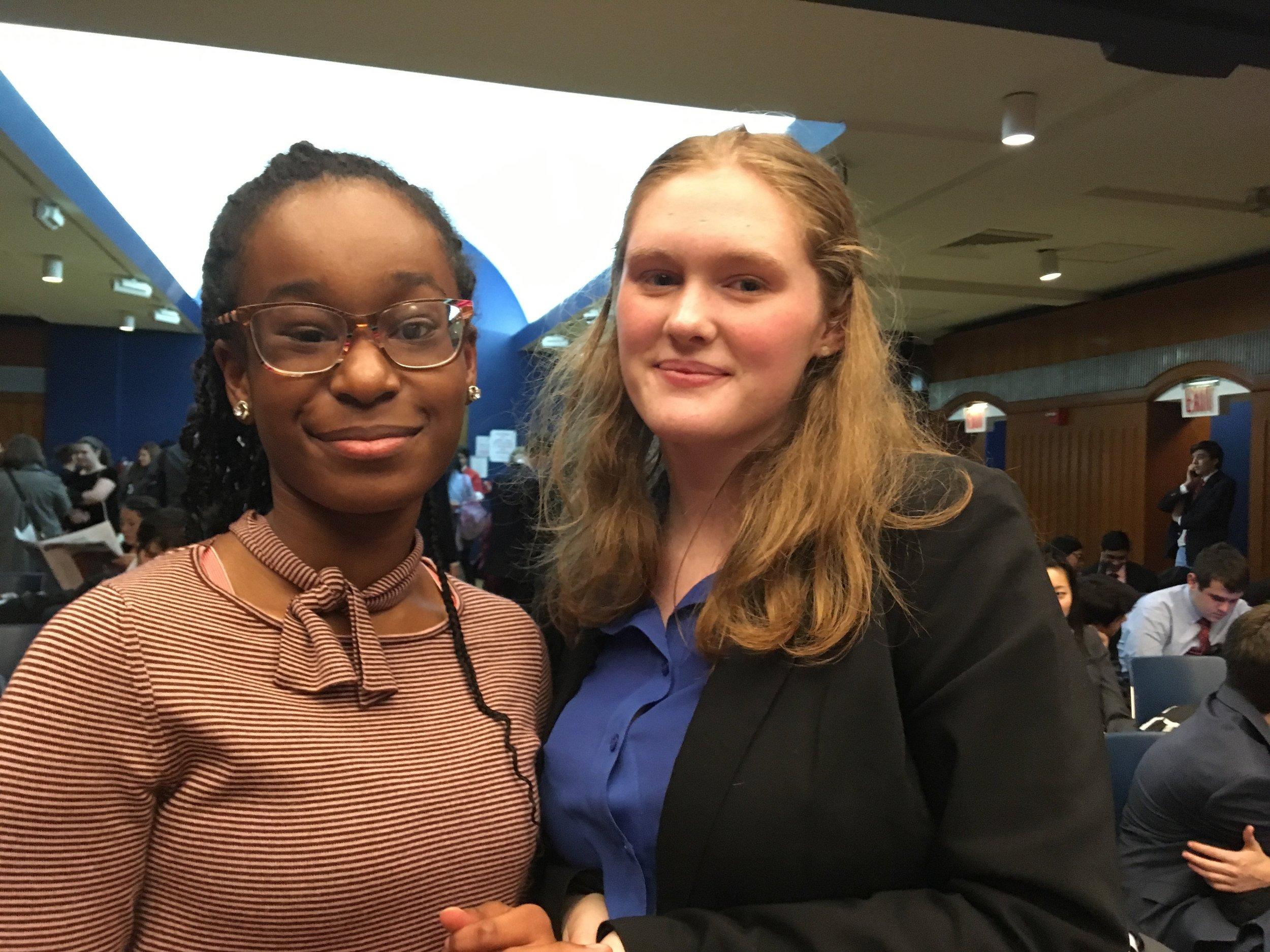 Debate Team Captain Amanda Muscente and Team Member Makayla Josiah.jpeg