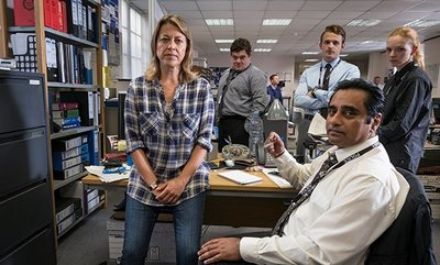 Adeel Akhtar and Mark Bonnar in Unforgotten (ITV)