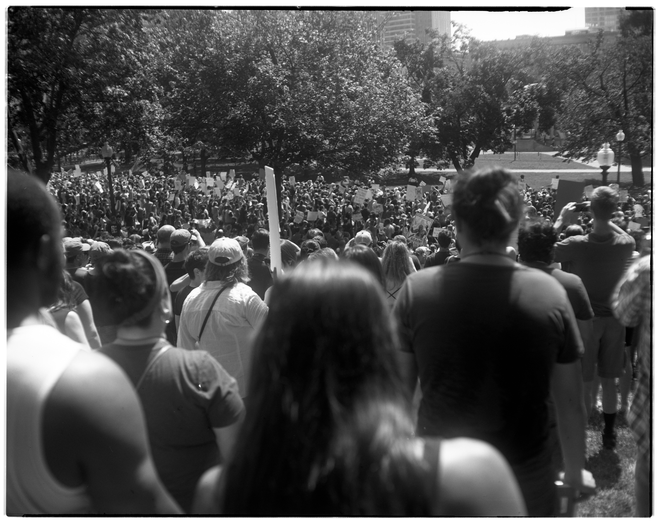 """On 19th of August, 2017, a """"free speech"""" rally in Boston featuring white-supremacist speakers was met with a massive counter-protest.  Over 30,000 showed up on the Boston Common to stand against white supremacy."""