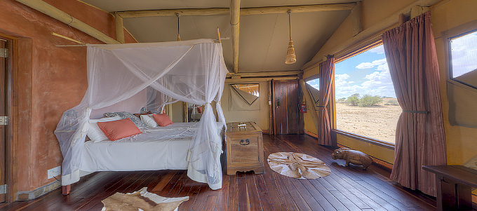 Panorama - Kalahari Red Dunes Lodge, Namibia, April 2018