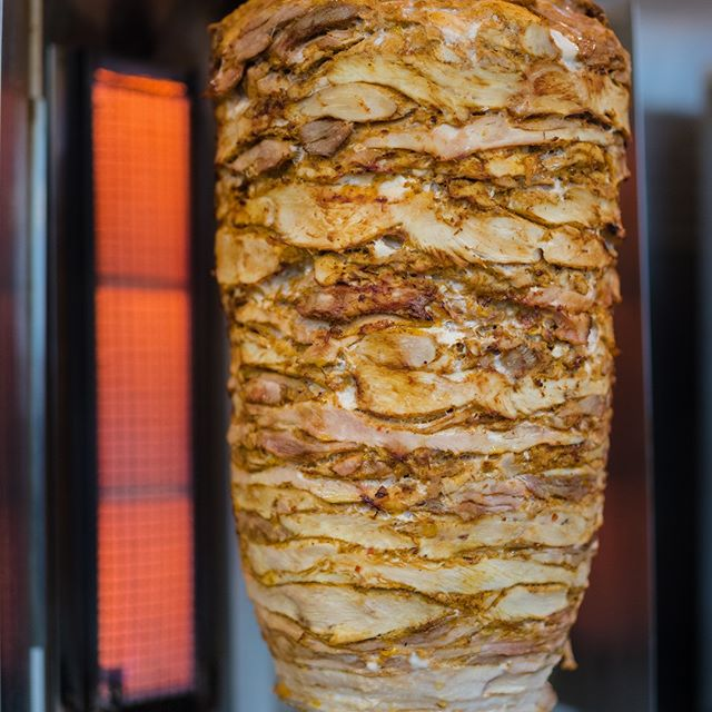 Yum!!! You really can't go wrong with meat on rotisserie! #shawarma