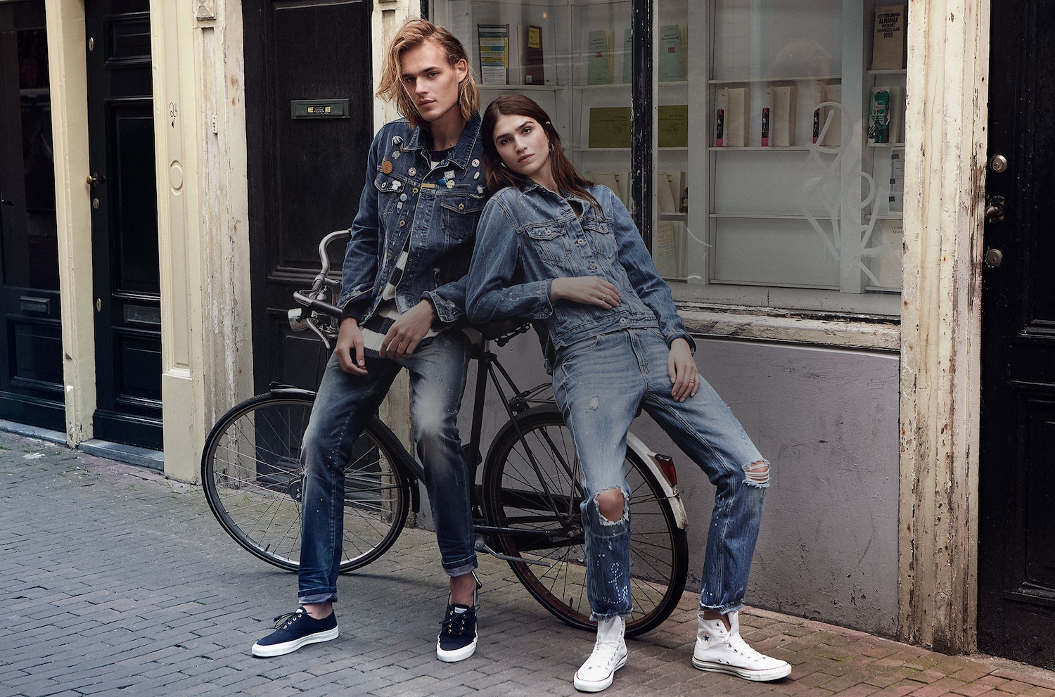 Scotch & Soda - Designed canal-side in an old church in the heart of Amsterdam. The meshing of different fabrics and textures on top of amazing fits make Scotch & Soda a staple brand for us. We wear their denim jackets on top of any outfit!