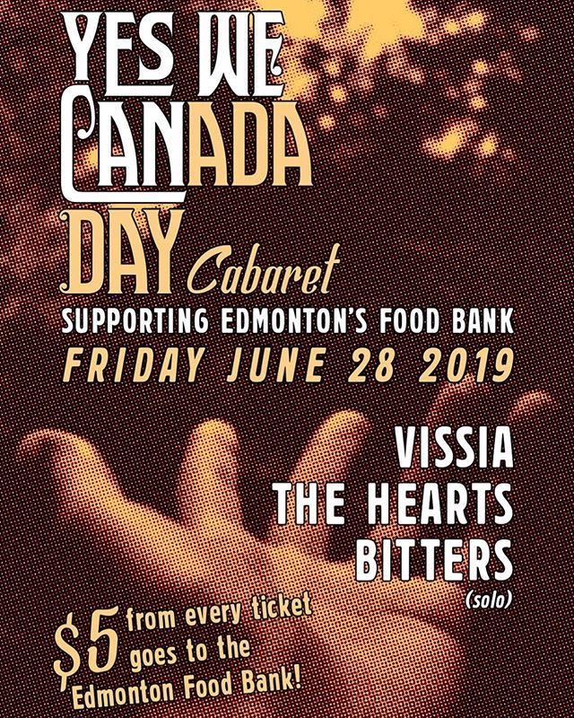 Rock out & help feed your community THIS FRIDAY with @VISSIA_3 (full band!) and friends @theheartsmusic & @bitterrrs at @aviarynorwood! 💚 $5 from EVERY TICKET goes to Edmonton's Food Bank @yegfoodbank 💚 Doors 8pm, All Ages. 🎫 link in bio! . . . . . . #hurryhardrecords #VISSIA #YEGfoodbank #helpinghand #indiemusic #altpop #singersongwriter #fundraiser #foracause #canadaday #givewhatyoucan #rocknroll #livemusic #FridayNight #YEGlive #AlbertaMusic #YEGmusic #getout #summerlovin #theaviary #weloveEdmonton #feelingfine #indierecordlabel #independentmusician #hurryhard #hackweight #indielabel