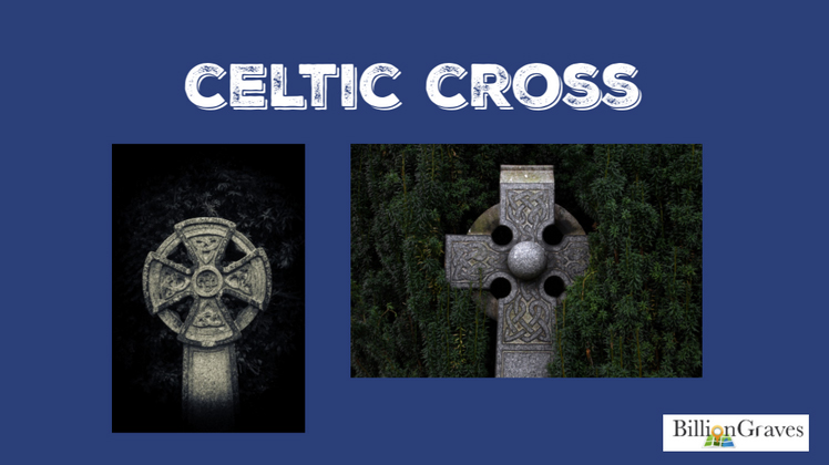 "Celtic Cross - The Celtic cross can be a religious or a secular symbol. The arms are of equal length and it is surrounded by a circle. Sometimes it is referred to as the ""sun cross"" because of the outer circle. The interlacing bands on Celtic crosses are known as Hiberno-Saxon art which originated in medieval times.Irish legends indicate that St. Patrick designed the cross as a way to link Pagan symbolism with Christian symbols. Pagans at the time were worshipping the sun, represented by the circle on the Celtic cross. St. Patrick overlayed the circle with a cross, a symbol of Christ's sacrifice. Others claim that the circle represented the moon goddess and the cross signified the greater power of Christianity over the pagan goddess.Nevertheless, if you see a Celtic cross on your ancestor's gravestone it may indicate an Irish or British Isles heritage."