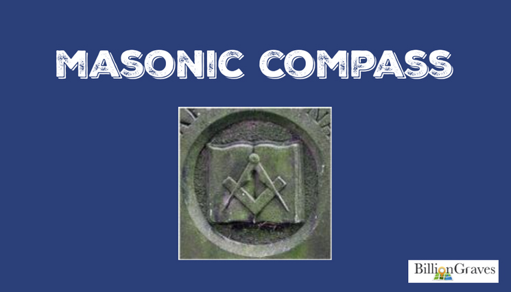Masonic Compass - Members of the Masonic organization believe in God and in serving their communities. While Masonry is not a religion, adherents act in accordance with high moral standards. In the photo above there are three symbols, the open book, the compass, and the square. The specific positions of these objects, makes them a recognizable Masonic symbol. The book represents the word of God, while the square and compass are tools used by architects. The compass reminds Masons to circumscribe their desires and passions within specific limits. The exactness of the straight edges of the square reminds Masons to behave with exact and precise virtue.If your ancestor has this symbol on their gravestone, you may be able to find records of Masonic meetings at the local Freemason organization. This may allow you to place your ancestor in an exact place during specific years.