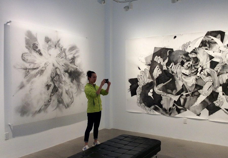 CONDITIONS OF UNCERTAINTY  , 2018    Gallery View with Artist Ming Ying Hong