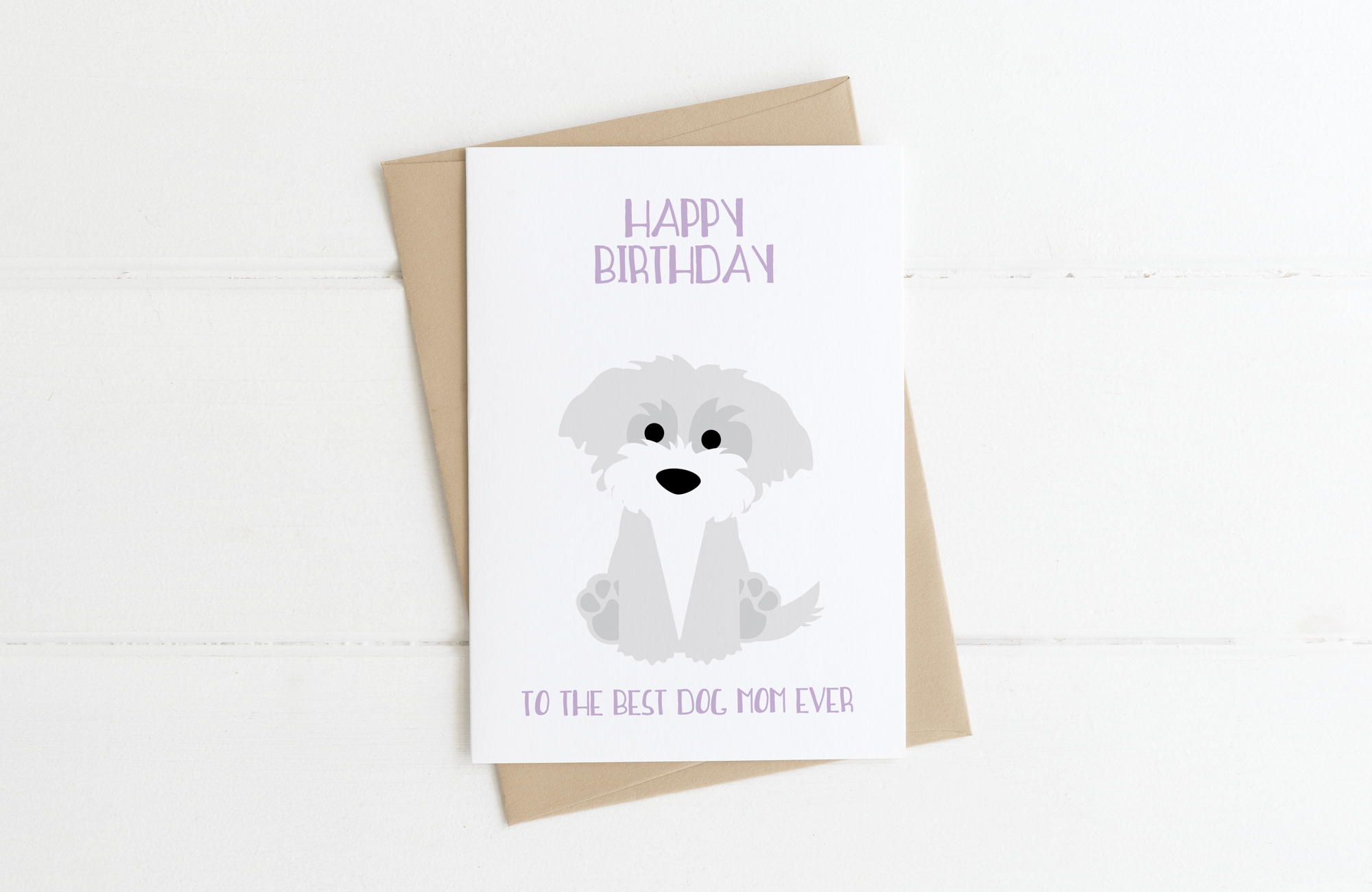 Cockapoo Dog Mom Birthday Card