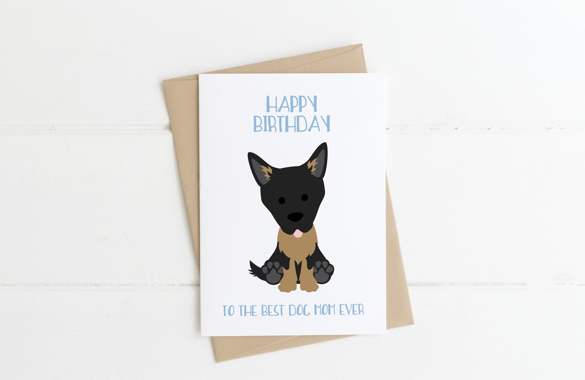 German Shepherd Dog Dad Birthday Card
