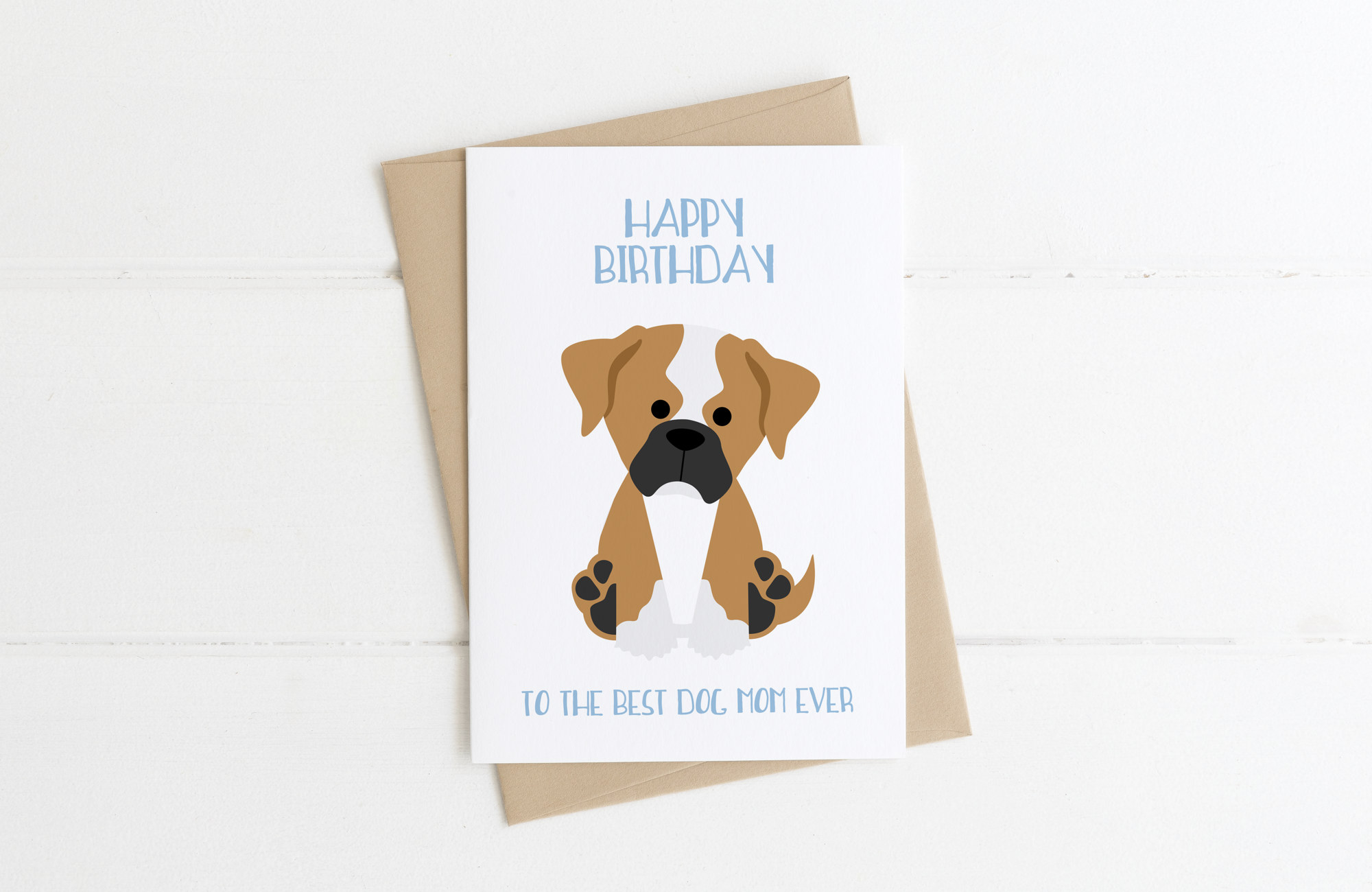 Boxer Dog Dad Birthday Card