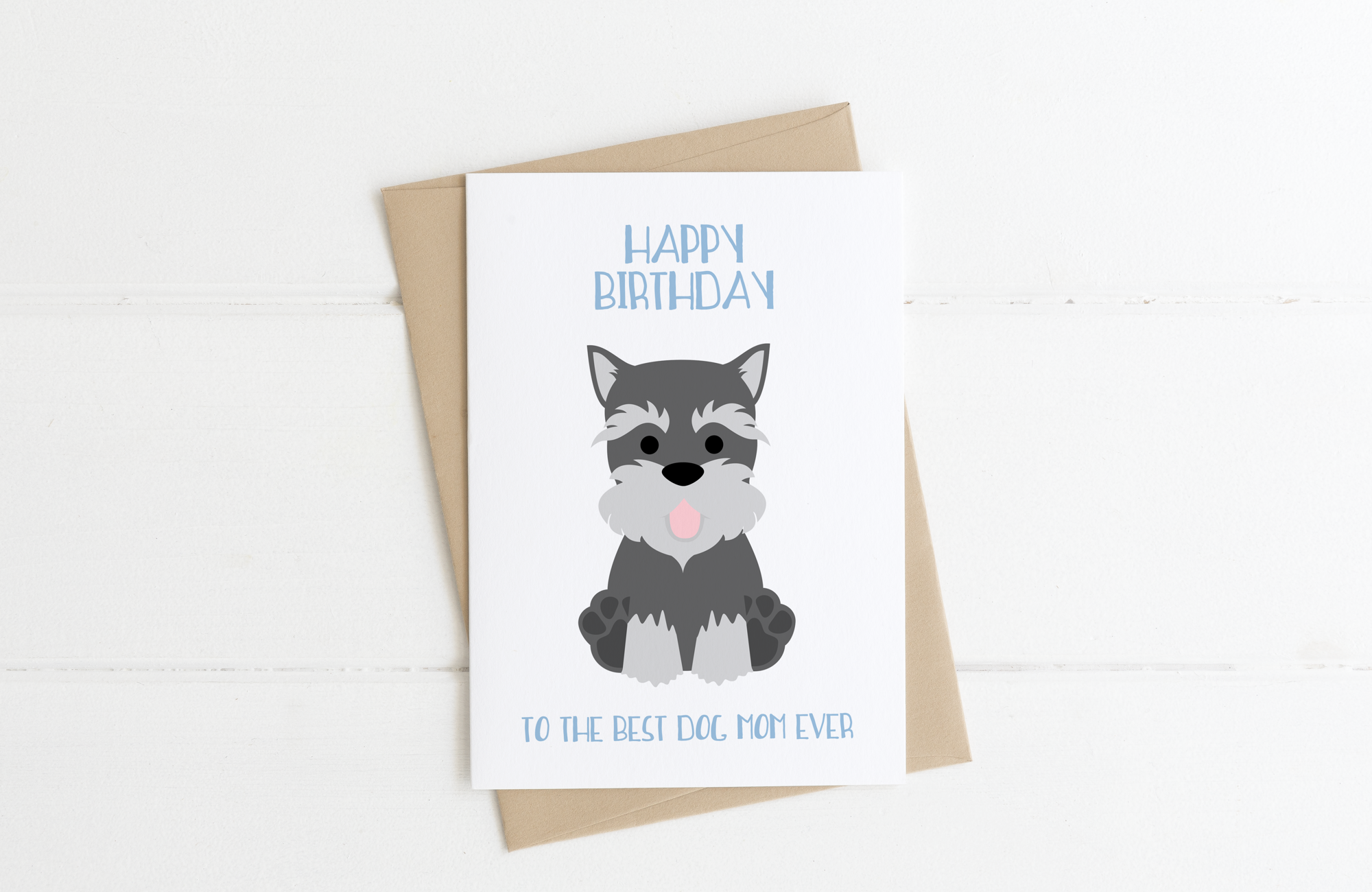 Schnauzer Dog Dad Birthday Card