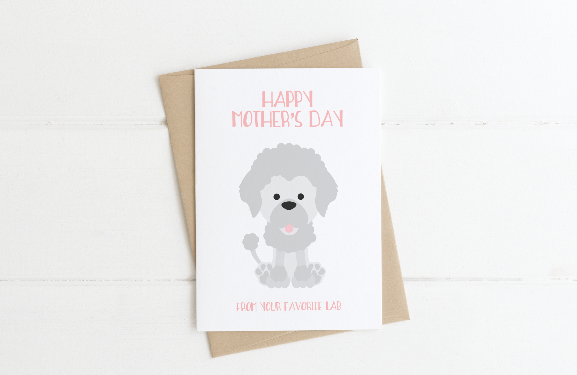 Poodle Dog Mom Mother's Day Card