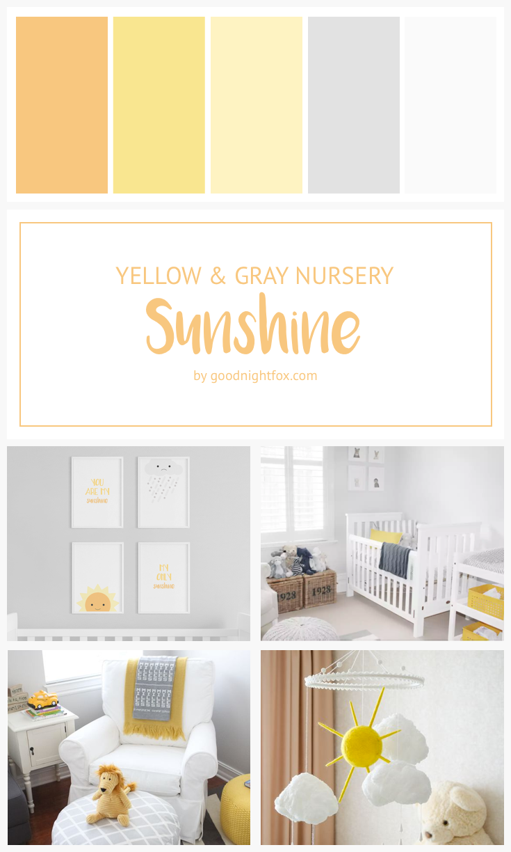 Yellow And Gray Nursery Blog Goodnight Fox