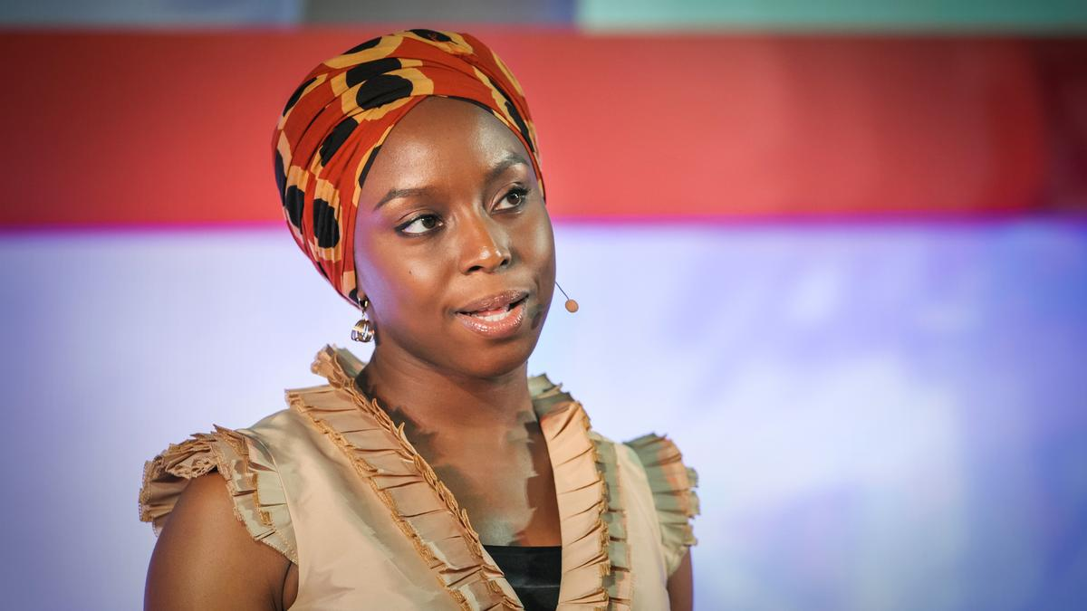 """Adichie speaking in the  """"The Danger of a Single Story"""" TED talk"""
