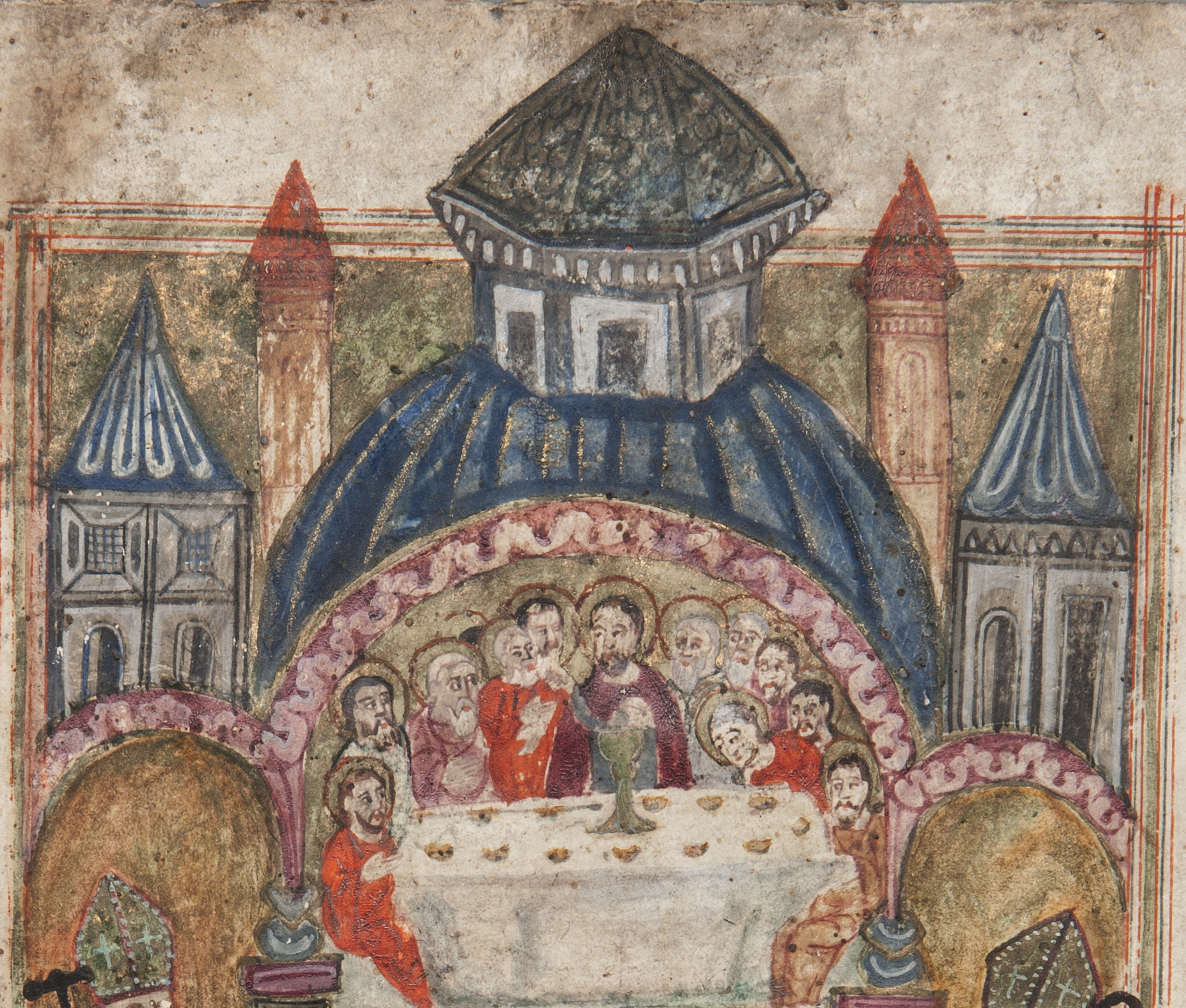 Detail of Liturgical Manuscript. Collection of the Armenian Museum of America. Donated by Haig Der Manuelian, 1983.