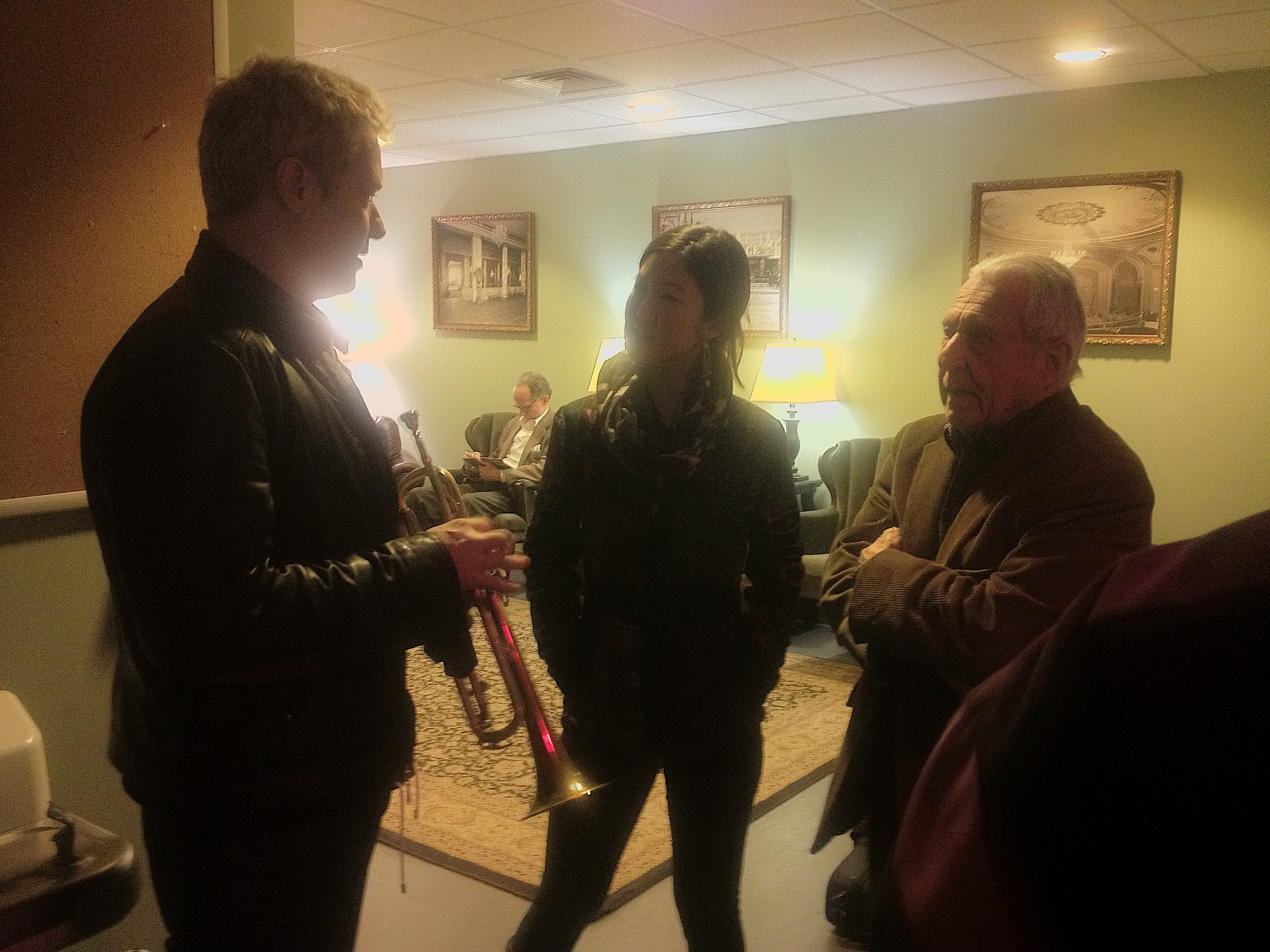 Fred, Chris Botti and Grace IMG_2353.JPG