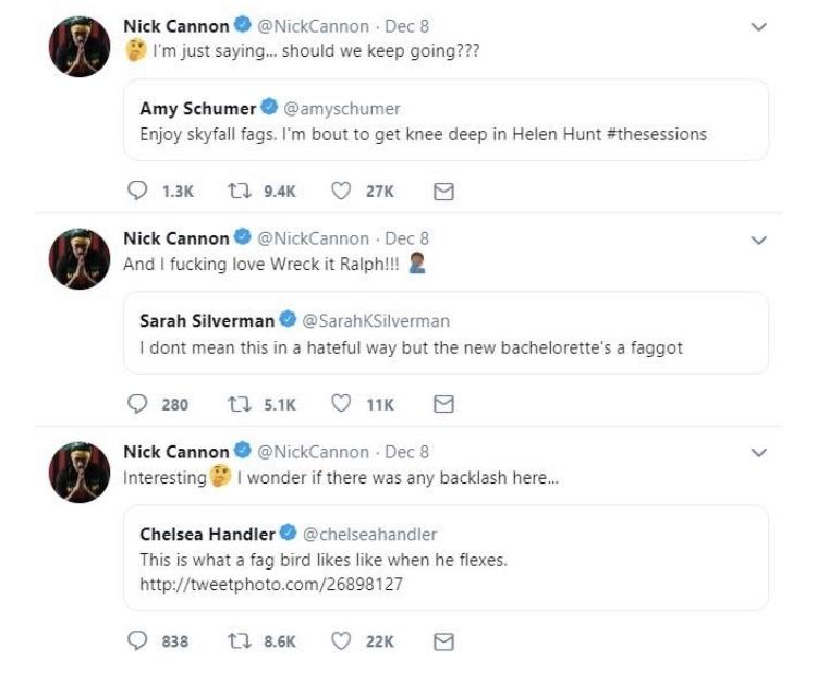 Tweets via Nick Cannon's Twitter