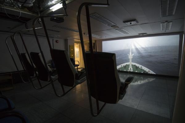Vestibule , 2017 Site specific video installation
