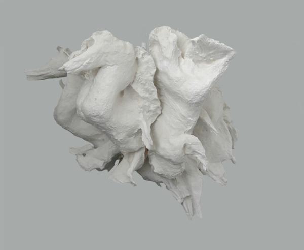 Into (Fat) , 2011 Aquaresin, fiberglass, wax, white pigment 45 x 60 x 67 inches