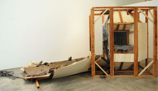 Blind Spot , 2013, Sculpture mold, wood and clay, variable dimensions