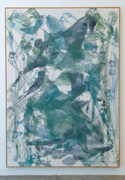 Vertical, 2013  photographic paper and aluminum 213 x 153 cm