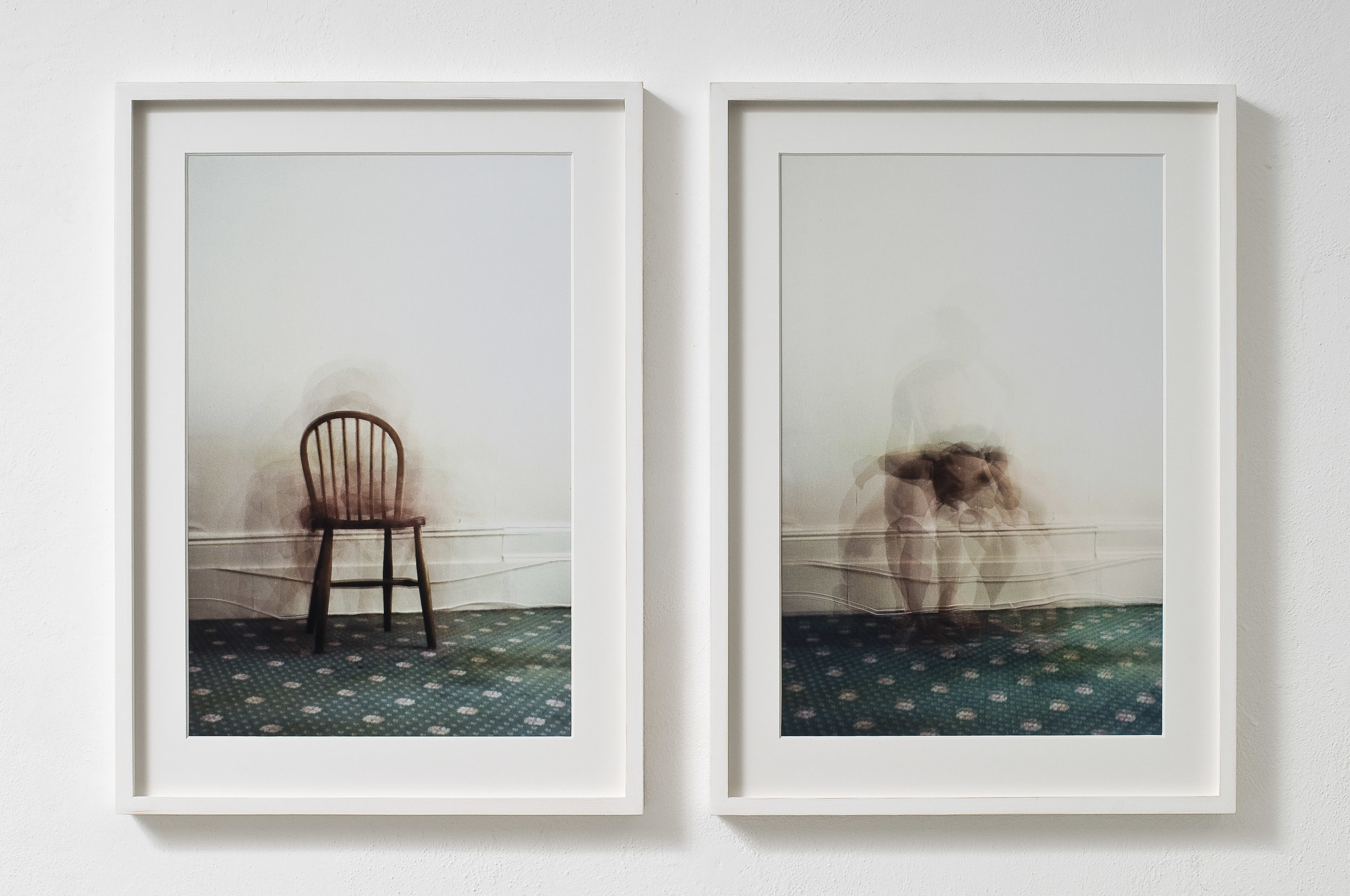 Chair 1 & Chair 3 (no chair)  C Print multiple exposure on 35mm 16 x 12 inches