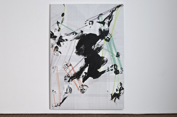 Inversion ,  Arch ,2012 Ink and colored pencil on canvas 200 x 100 cm