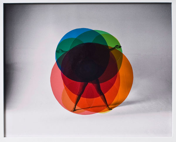 Precede / Proceed I , 2012 Black and White photograph, colored gels 29 x 35 cm