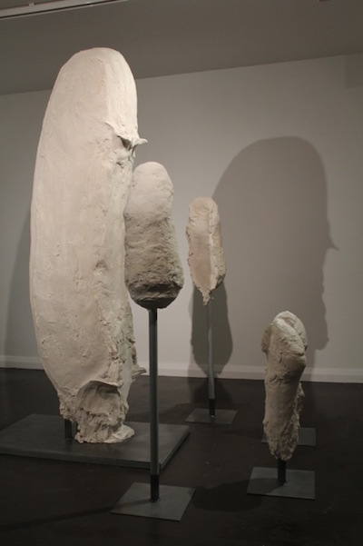 Voids , 2012. Plaster, polystyrene, wood and metal 69 x 40  x 57 inches