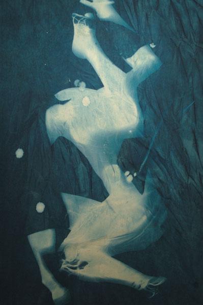 Summertime Blues  #2 Cyanotype on canvas 125 x 186.5 x 4 cms
