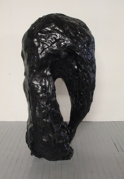 Up Down , 2009 Polyester resin, fiberglass, synthetic onyx, black cellulose paint  55 x 150 x 70 cms