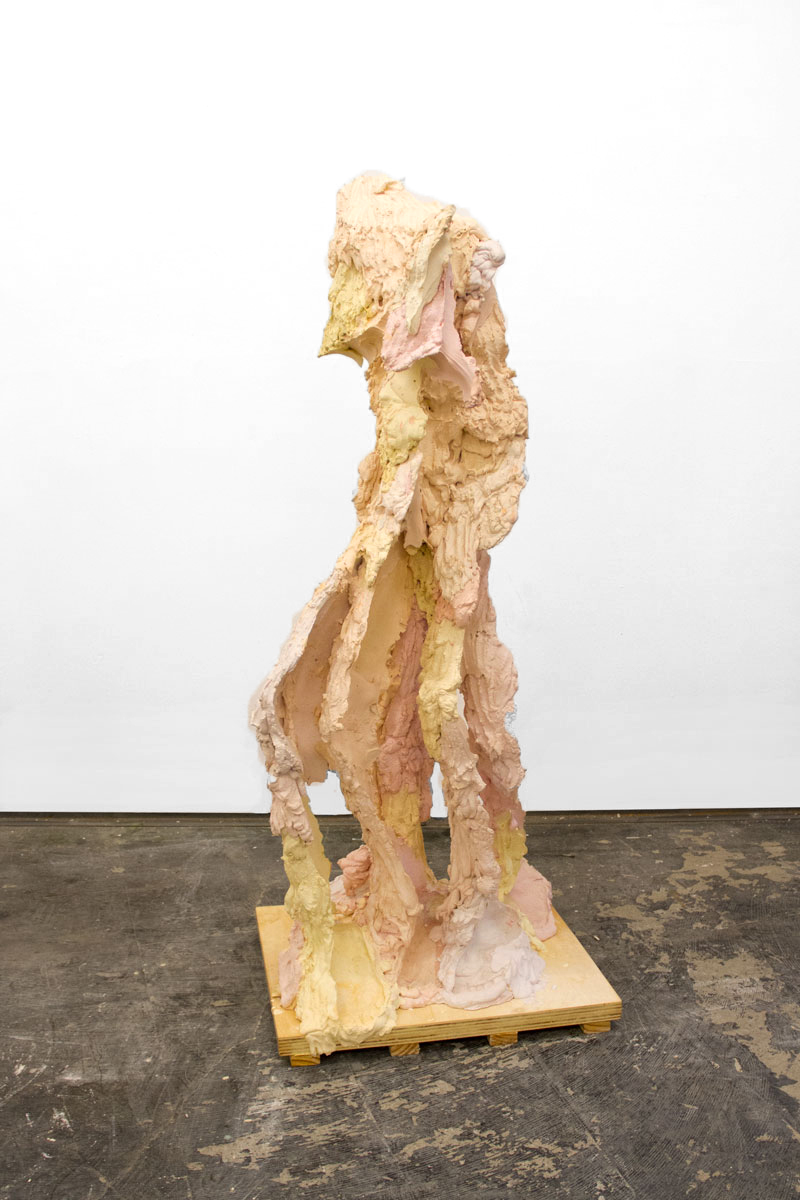 VVV  Plaster, Steel, Pigment, and Wax on a Wood Base, 2018  153cmx60cm x 53cm