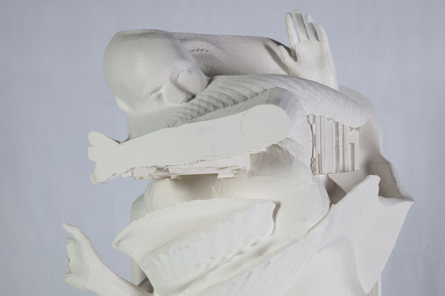 Species Specific_005 (fight)   3D printed PLA, supports    112 x 50 x 90 cm    2019