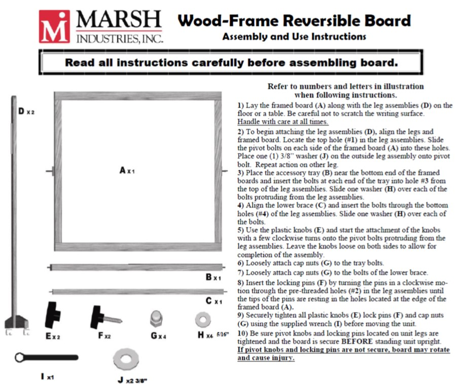 Wood Framed Reversible Assembly Instructions