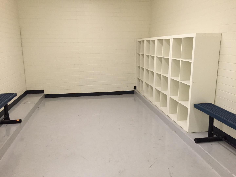 Men's locker room storage