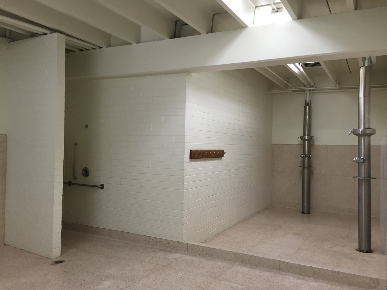 Men's locker room showers