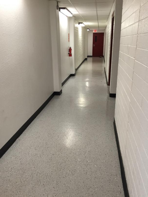 Hallway to locker rooms