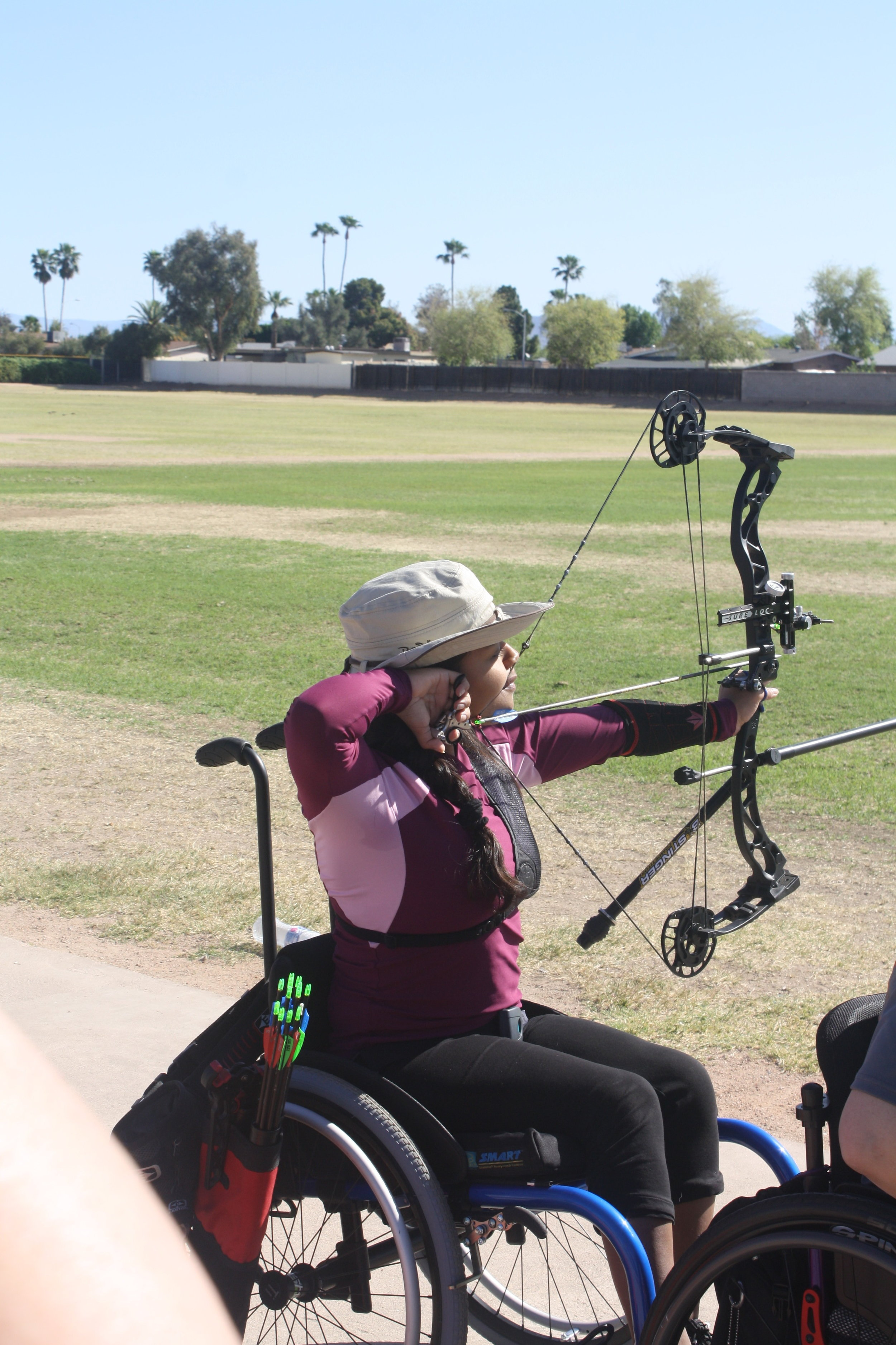 - Valeria Duron is turning 17 years old this month and she has been in AzDS's archery program for two years now. Valeria has cerebral palsy and she was born at 29 weeks old, so her dad calls her a real miracle. This is her first trip to Junior Nationals, and she has qualified for the event with a score of 626 at the Desert Challenge Games. Valeria thinks that the archery program has changed her life a lot, specifically by motivating her in all aspects of her life and by giving her a group of friends. Valeria also beat the goal that Coach John Dee set for her at the beginning of the season. While Valeria is still rather new to archery, she has a lot of skill and is planning to attend open tryouts for the Paralympics in September of this year. We can't wait to watch her compete at Junior Nationals!