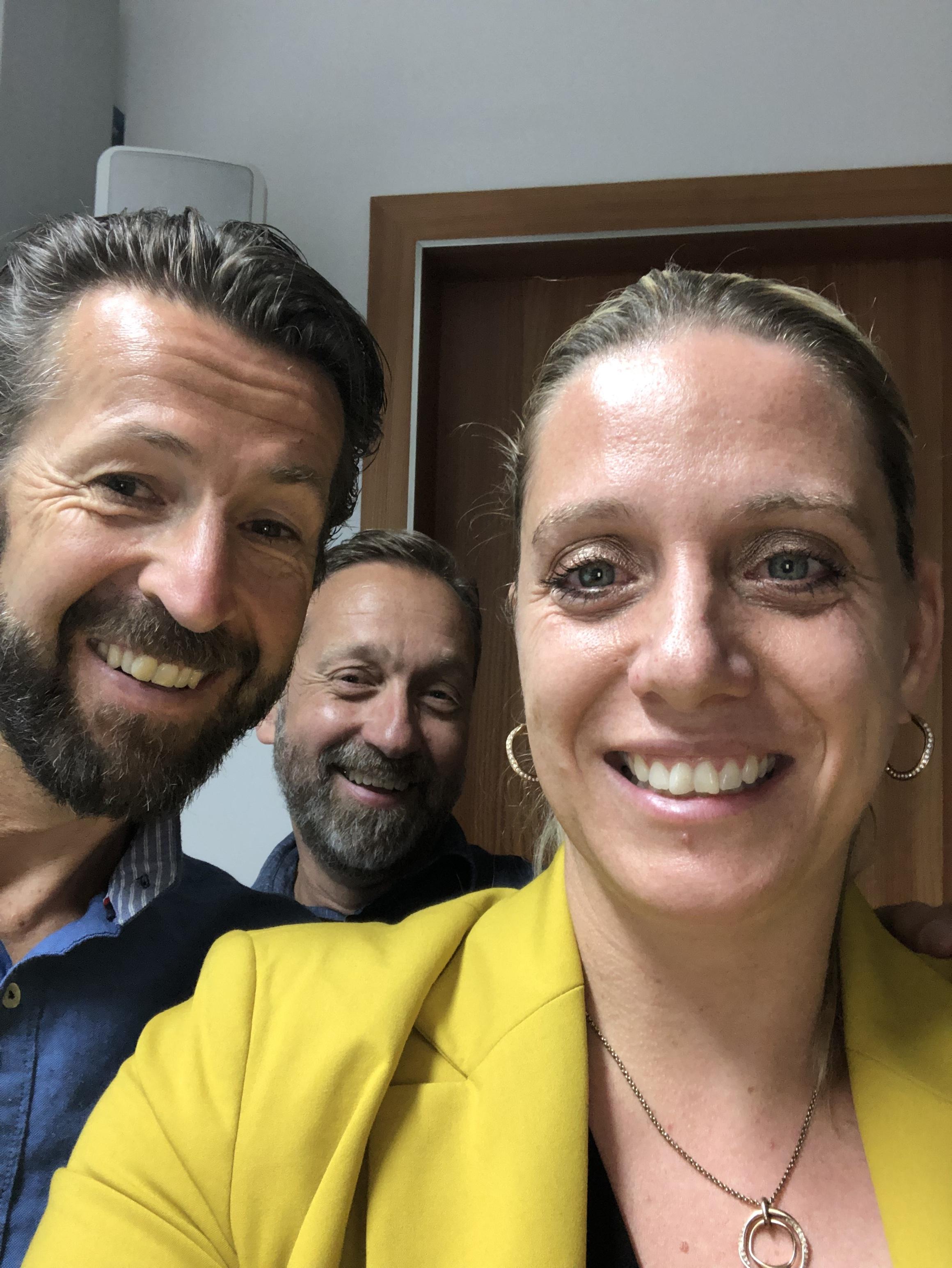 Das Trainerteam Ivo Damaso, Christian Lüer und Steffanie Egger