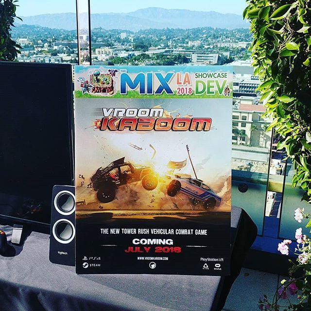 Presenting #VroomKaboom @mediaindieexchange tonight! The view's not too shabby either 🌁 . . . . . #E3 #gameconvention #TheMix #LA #vroomkaboom #montreal #videogames #games #gamers #gamingislife #startup #indiestudio #indiedev #indiegames #onlinegaming #pcgaming #videogameaddict #gamedevelopers #gamedev #testedongamers #ratloop #ratloopcanada #picoftheday