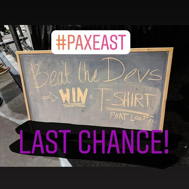 Beat the devs! . . . . . . . #paxeast #paxeast2019 #gameconference #gameconvention #giveaway #competiton #lemnisgate #gamedev #indiedev #indiegamedev #indiestudio #timetravel #onlinegaming #pcgaming #videogameaddict #gamedevelopers #gamedev #testedongamers #ratloopcanada #picoftheday