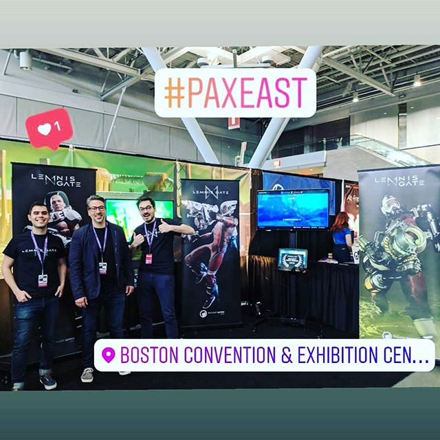 We're all set! Come and visit us at booth 21133 :) . . . . . . . . #paxeast #paxeast2019 #gameconference #gameconvention #lemnisgate #gamedev #indiedev #indiegamedev #indiestudio #timetravel #onlinegaming #pcgaming #videogameaddict #gamedevelopers #gamedev #testedongamers #ratloopcanada #picoftheday
